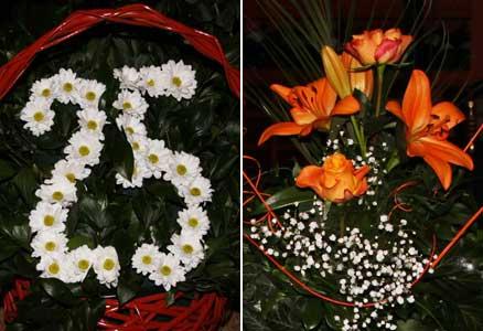 Flotte blomster til Håndballens Venner 25års jubileum